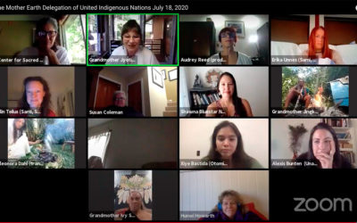 The Grandmothers and the Women of the Mother Earth Delegation speak